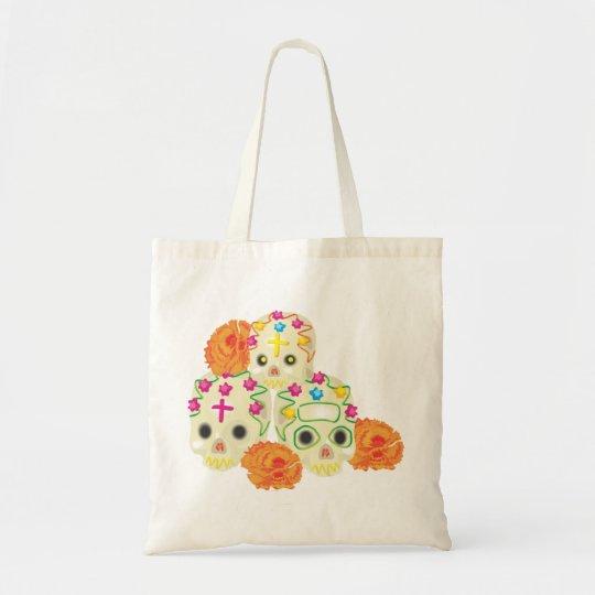 Sugar Skulls and Marigolds Tote Bag