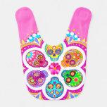 Sugar Skulls Baby Bib - Colorful Art at Zazzle