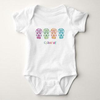 sugar skulls baby bodysuit