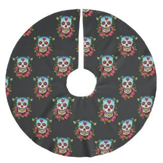 Sugar Skulls Brushed Polyester Tree Skirt