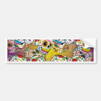 Sugar Skulls Bumper Sticker
