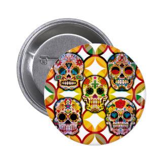 Sugar Skulls 2 Inch Round Button