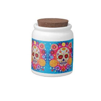 Sugar Skulls Candy Jar Day of the Dead