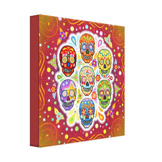 Sugar Skulls Gallery Wrapped Canvas