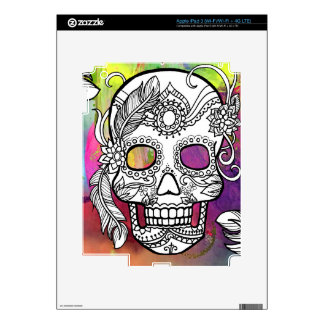 Sugar Skulls Color Splash Series withmspdgtt Decal For iPad 3