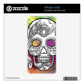 Sugar Skulls Color Splash Series withmspdgtt Decal For The iPhone 4S