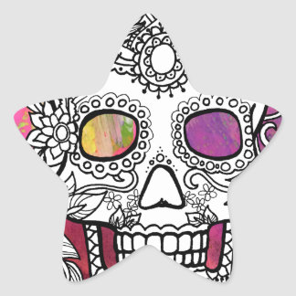 Sugar Skulls Color Splash Series withmspdgtt Star Sticker