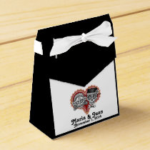 Sugar Skulls Couple Favor Box - CUSTOMIZE IT!