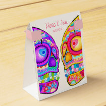 Sugar Skulls Couple Favor Box - Day of the Dead