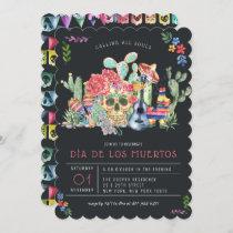 Sugar Skulls Day of the Dead Celebration Invitation