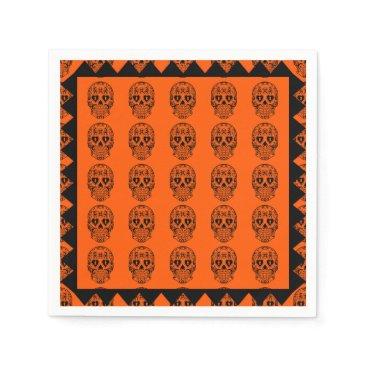 Halloween Themed Sugar skulls,Day of the Dead napkins
