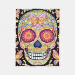 Sugar Skulls Fleece Blanket - Day Of The Dead Art at Zazzle