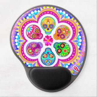 Sugar Skulls Gel Mousepad - Colorful Groovy Art