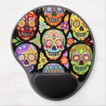 Sugar Skulls Gel Mousepad - Colorful Groovy Art