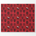 """Sugar Skulls Goth Holiday Wrapping Paper<br><div class=""""desc"""">Cool wrapping paper has a Goth appeal.  It"""