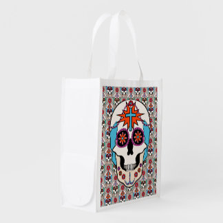Sugar Skulls Graphic Grocery Bag
