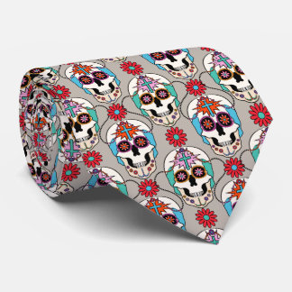 Sugar Skulls Graphic Neck Tie