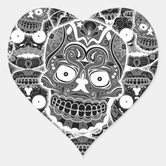Sugar Skulls Heart Sticker