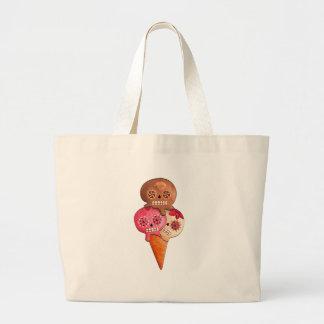 Sugar Skulls Ice Cream Canvas Bags