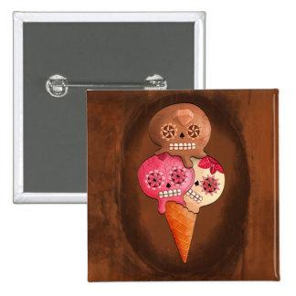 Sugar Skulls Ice Cream Pinback Button
