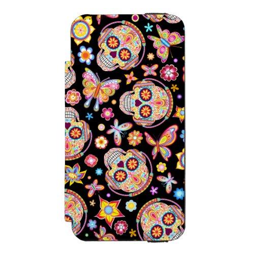 Sugar Skulls iPhone 5/5s Wallet Case Phone Case