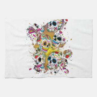 Sugar Skulls Hand Towel