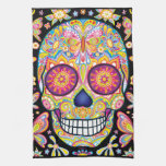 Sugar Skulls Kitchen Towel - Day of the Dead Art