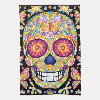 Sugar Skulls Kitchen Towel - Day of the Dead Art