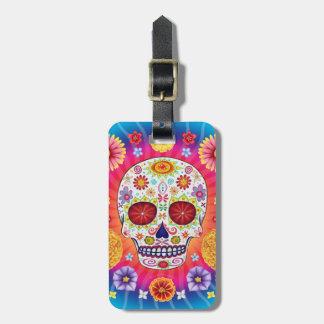 Sugar Skulls Luggage Tag Day of the Dead