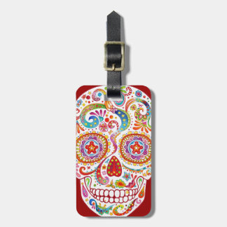 Sugar Skulls Luggage Tag Day of the Dead