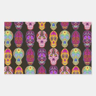 Sugar Skulls Pattern in 5 Different Styles Rectangular Sticker