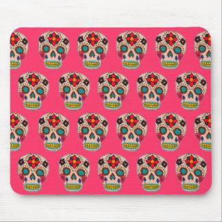 Sugar Skulls Pink Mouse Pad