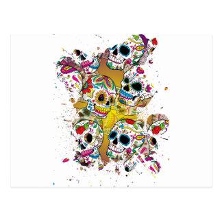 Sugar Skulls Postcard