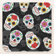 Sugar Skulls print Coaster