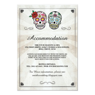 Sugar Skulls Roses Accommodation Wedding Cards