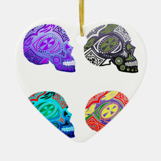 Sugar Skulls - Skeleton Design Ceramic Ornament