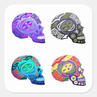 Sugar Skulls - Skeleton Design Square Sticker