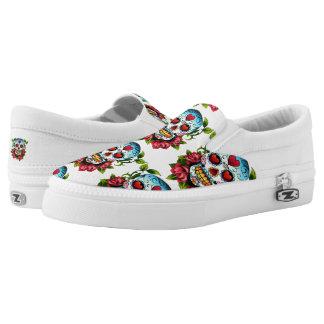 Sugar Skulls Slip-On Sneakers