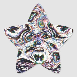 Sugar Skulls Star Sticker