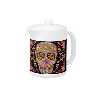 Sugar Skulls Teapot Day of the Dead