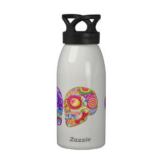 Sugar Skulls Water Bottle - Day of the Dead Art