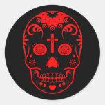 sugar skullz : 2 classic round sticker