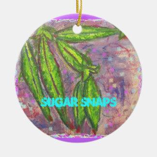 Sugar Snaps Ceramic Ornament