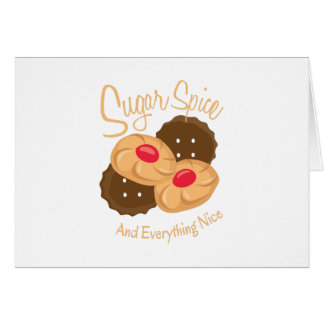 Sugar Spice And Everything Night Greeting Card