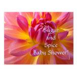 Sugar & Spice Baby Shower! It's a Girl invitations Postcard