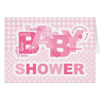 Sugar & Spice Bunny Shower Card Invitation