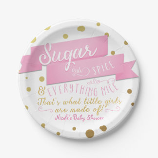 Sugar & Spice & Everything Nice Baby Shower Plates