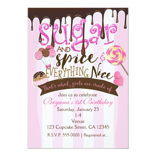 Sugar E Everything Nice Party Invitations