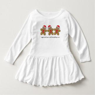 Sugar & Spice Gingerbread Man Triplets Dress