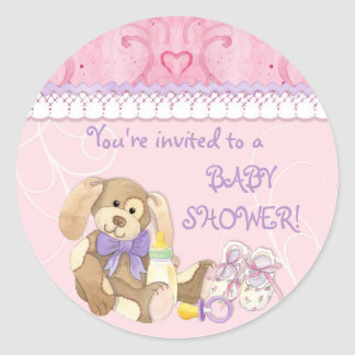 Sugar & Spice, Girl Baby Shower Sticker or Seal